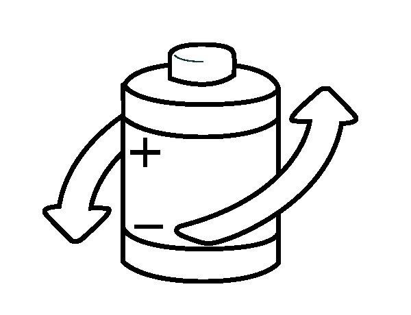Dibujo de Reciclar pilas para Colorear