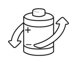 Dibujo de Reciclar pilas