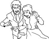 Dibujo de Recién casados para colorear