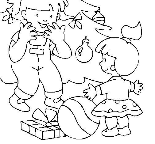 Dibujo de Regalos de navidad para Colorear