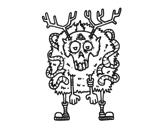 Dibujo de Reno zombie para colorear