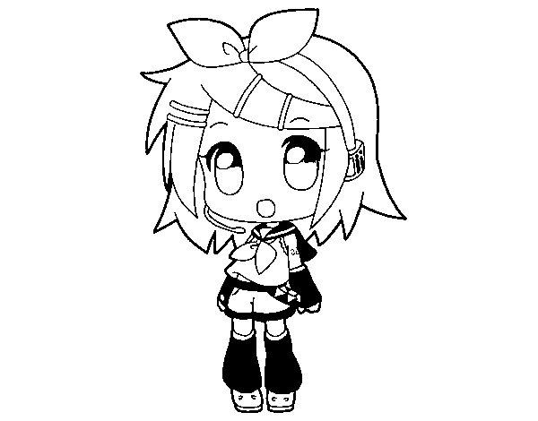 Dibujo de Rin para Colorear