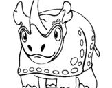 Dibujo de Rinoceronte 4