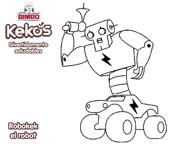 Dibujo de Robokek el robot para Colorear  Dibujosnet
