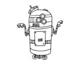 Dibujo de Robot en servicio para colorear
