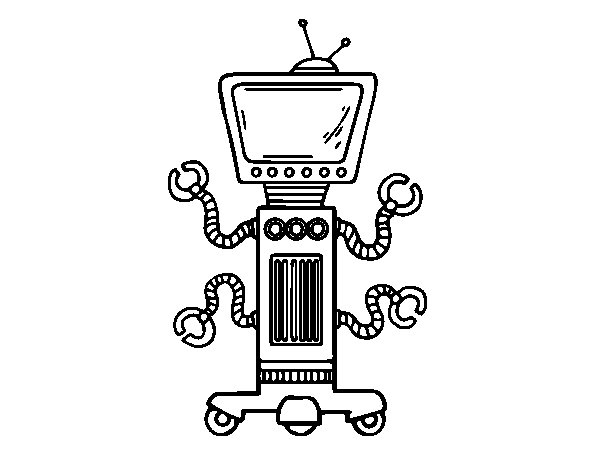 Dibujo de Robot mecánico para Colorear
