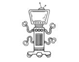 Dibujo de Robot mecánico
