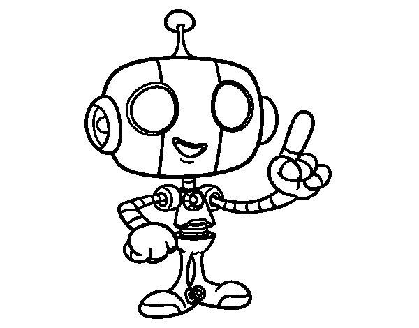 Dibujo de Robot simptico para Colorear  Dibujosnet