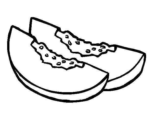 Dibujo de Rodajas de meln para Colorear  Dibujosnet