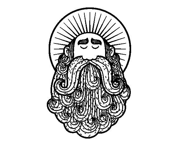 Dibujo de Santo para Colorear