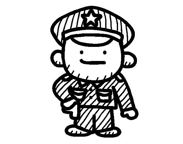 Dibujo de Sargento para Colorear