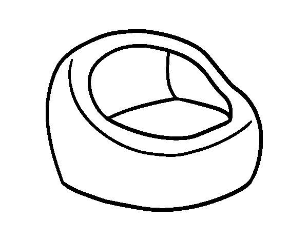 Dibujo de Silln redondo para Colorear  Dibujosnet