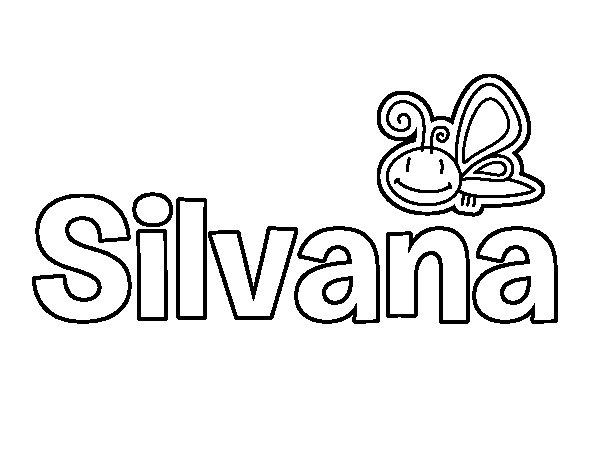 Dibujo de Silvana para Colorear