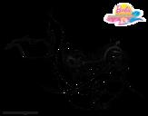 Dibujo de Sirena contenta para colorear
