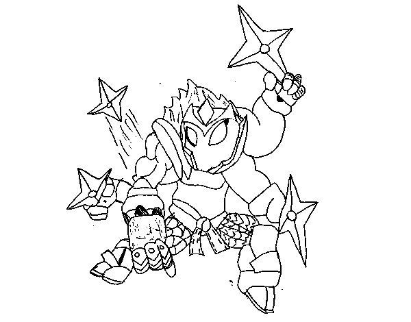 Dibujo de Skylanders Imaginators de Izan para Colorear