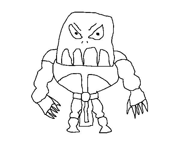 Dibujo de Skylanders Imaginators de Rorro 2 para Colorear