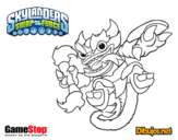 Dibujo de Skylanders Swap Force Fire Kraken para colorear