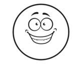 Dibujo de Smiley contento para colorear