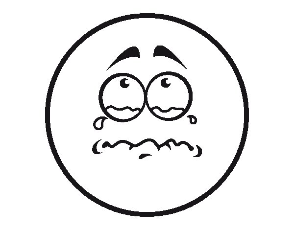 Dibujo de Smiley lloroso para Colorear
