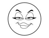 Dibujo de Smiley malvada para colorear