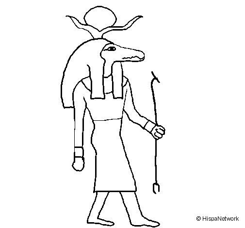 Dibujo de Sobek II para Colorear