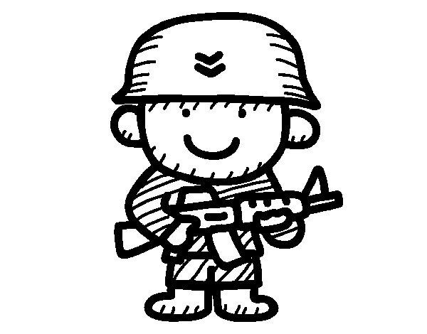 Dibujo de Soldado para Colorear