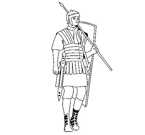 Dibujo de Soldado romano para Colorear