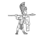 Dibujo de Soldado romano en defensa para colorear