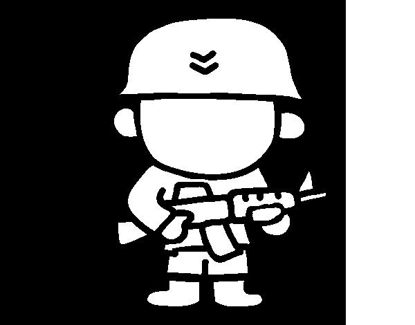 Dibujo de Soldado para Colorear  Dibujosnet