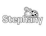 Dibujo de Stephany para colorear