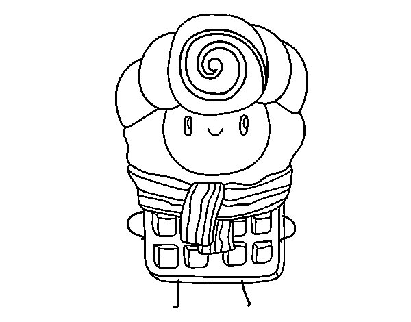 Dibujo de Súper gofre para Colorear