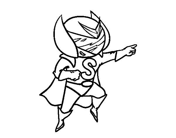 Dibujo de Súper S para Colorear