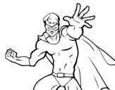 Dibujo de Superhéroe enmascarado para colorear