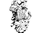 Dibujo de Superhéroe rompiendo una pared