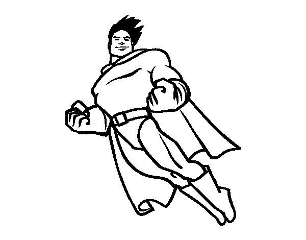 Dibujo de Superman volando para Colorear