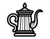 Dibujo de Tetera clásica para colorear