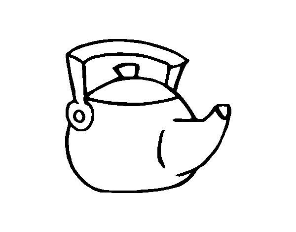 Dibujo de Tetera tradicional para Colorear  Dibujosnet