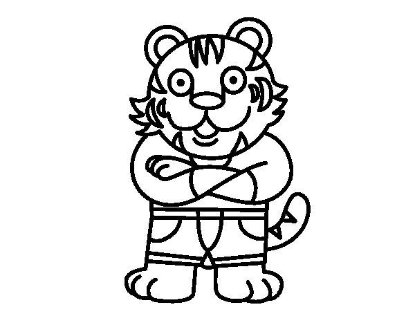 Dibujos De Caras De Tigres Para Colorear: Dibujo Tigre Para Colorear. Excellent Caras De Tigres Para