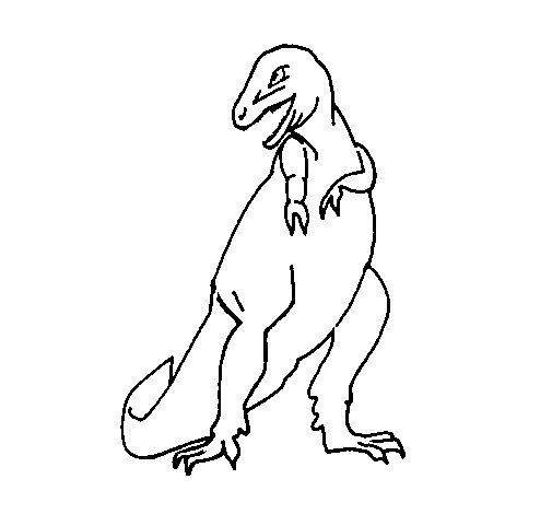Dibujo de Tiranosaurios rex para Colorear