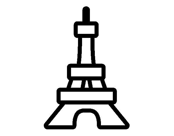 Dibujo de Torre para Colorear