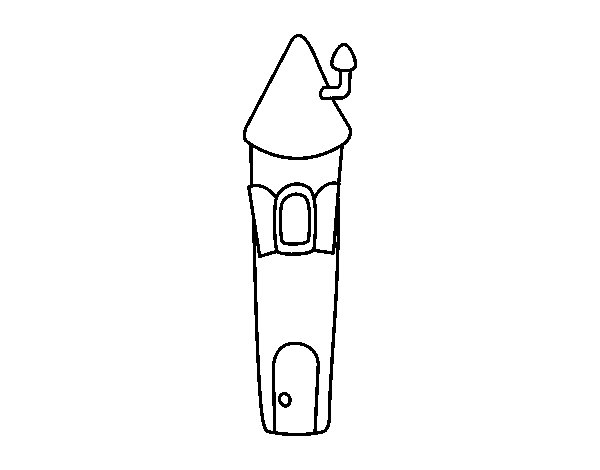 Dibujo de Torre de Rapunzel para Colorear - Dibujos.net
