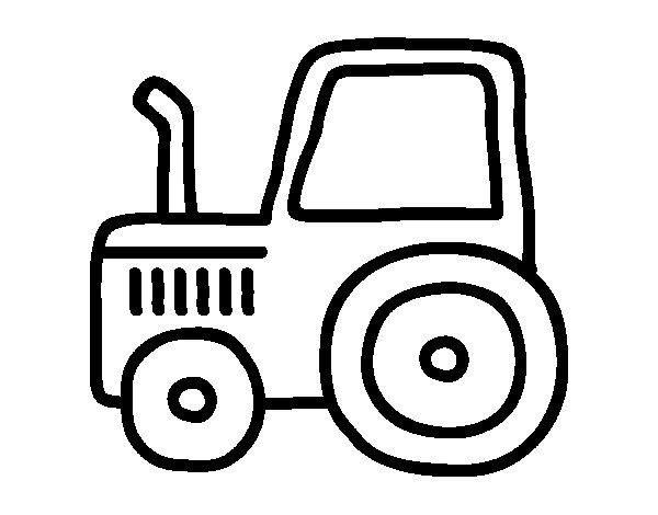 Dibujos De Tractores Para Imprimir Y Colorear: Dibujo De Tractor Clásico Para Colorear