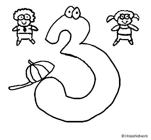 Dibujo de Tres para Colorear