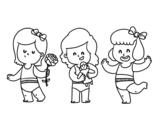 Dibujo de Trillizas