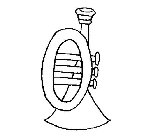 Dibujo de Trompeta para Colorear