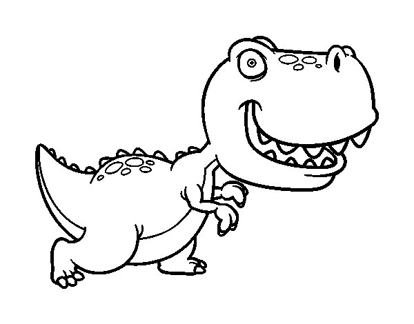 Dibujo de Tyrannosaurus para Colorear - Dibujos.net