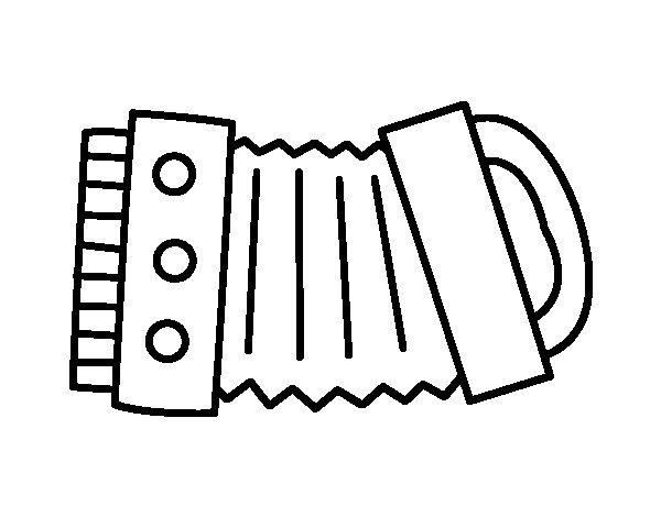 Worksheet. Dibujo de Un Acorden para Colorear  Dibujosnet