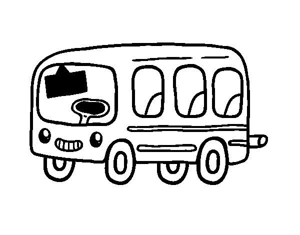 Dibujo de Un autobús escolar para Colorear