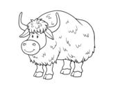 Dibujo de Un búfalo para colorear