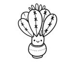 Dibujo de Un cactus con flor para colorear